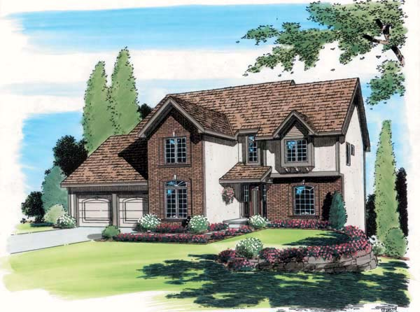 European Traditional House Plan 20210 Elevation