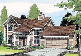 Contemporary , Traditional House Plan 20213 with 3 Beds, 3 Baths, 2 Car Garage Elevation