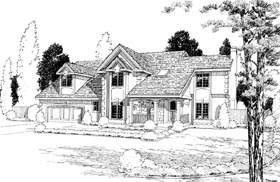 Contemporary European Traditional House Plan 20217 Elevation