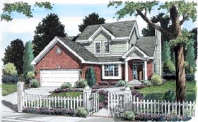 Traditional House Plan 20225 with 3 Beds, 3 Baths, 2 Car Garage Elevation