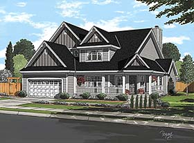 Traditional , Southern , Farmhouse , Country House Plan 20228 with 3 Beds, 3 Baths, 2 Car Garage Elevation