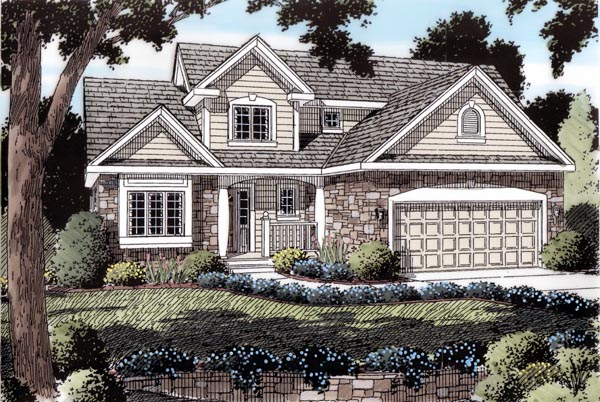 Traditional House Plan 20230 Elevation