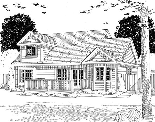 Traditional House Plan 20230 Rear Elevation
