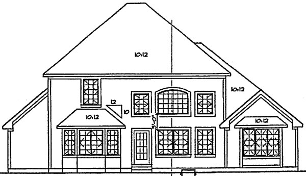 Country Farmhouse Traditional House Plan 20231 Rear Elevation