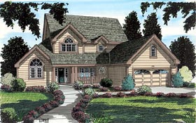 Country Traditional House Plan 20234 Elevation