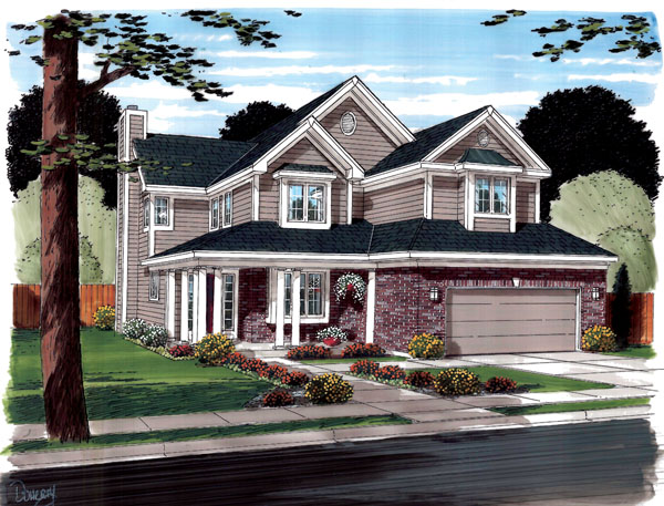 Contemporary Traditional House Plan 20235 Elevation