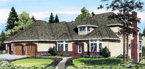 European Traditional House Plan 20355 Elevation