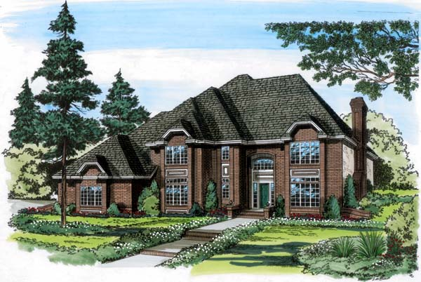 European Traditional House Plan 20359 Elevation