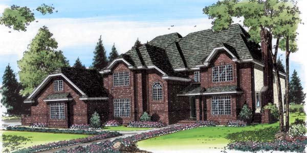 European Traditional House Plan 20360 Elevation