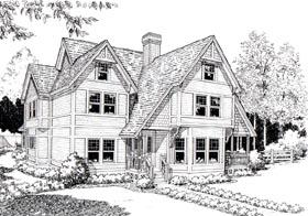 Country Farmhouse Tudor Victorian House Plan 20366 Elevation