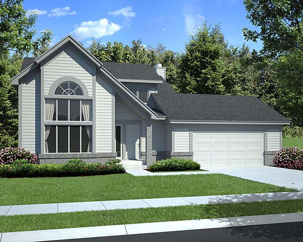 Contemporary, Traditional House Plan 20367 with 3 Beds, 3 Baths, 2 Car Garage Elevation