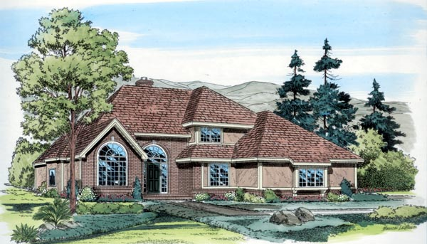 Contemporary European Traditional House Plan 20368 Elevation