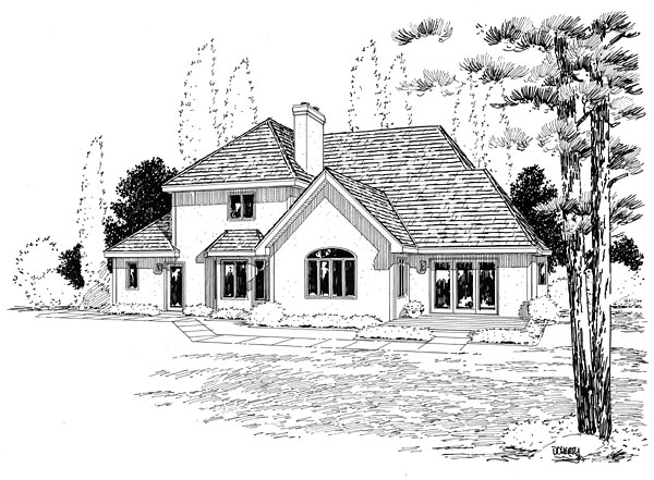 Contemporary European Traditional House Plan 20368 Rear Elevation