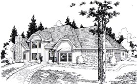 European Traditional House Plan 20375 Elevation