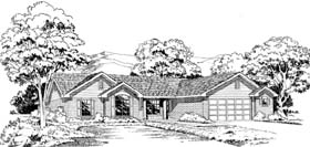 Ranch , Traditional House Plan 20402 with 3 Beds, 2 Baths, 2 Car Garage Elevation