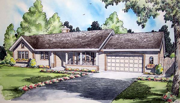 Ranch Traditional House Plan 20403 Elevation