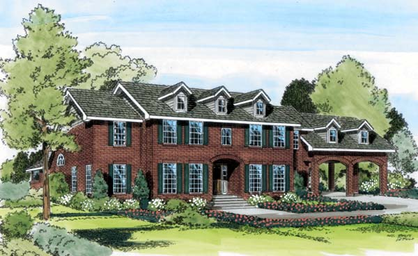 Colonial Traditional House Plan 20405 Elevation