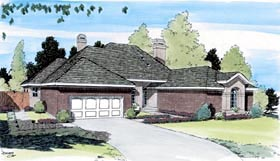 European , Traditional House Plan 20407 with 3 Beds, 3 Baths, 2 Car Garage Elevation