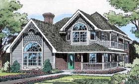 Country , Victorian House Plan 20500 with 3 Beds, 3 Baths Elevation