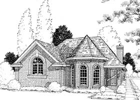 European House Plan 20504 with 3 Beds, 3 Baths, 2 Car Garage Elevation