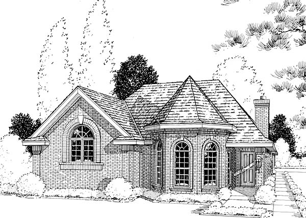 European House Plan 20504 Elevation
