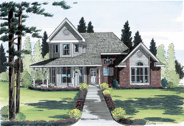 Country , Farmhouse House Plan 20505 with 3 Beds, 3 Baths Elevation