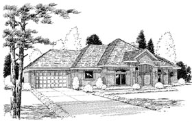 European Traditional House Plan 20506 Elevation