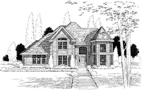 European Traditional House Plan 20507 Elevation