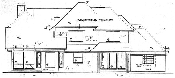 European Traditional House Plan 20507 Rear Elevation