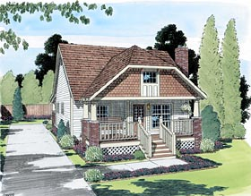 Bungalow Country House Plan 24240 Elevation