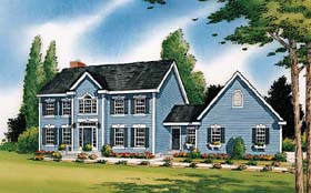 Colonial Traditional House Plan 24246 Elevation
