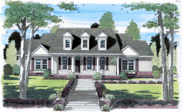 Country, Southern House Plan 24247 with 3 Beds, 3 Baths, 2 Car Garage Elevation