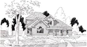 House Plan 24248 | Country European Traditional Style Plan with 2558 Sq Ft, 3 Bedrooms, 3 Bathrooms, 2 Car Garage Elevation