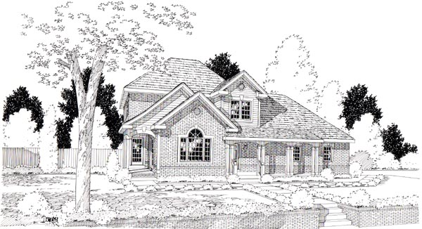 Country European Traditional House Plan 24248 Elevation