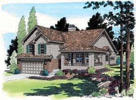 Traditional House Plan 24251 with 3 Beds, 3 Baths, 2 Car Garage Elevation