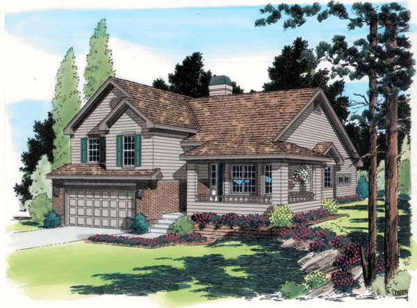 Traditional House Plan 24251 Elevation