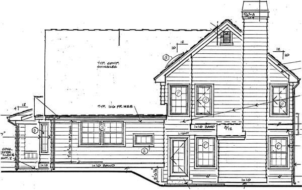 Traditional House Plan 24251 Rear Elevation