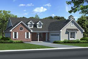Country Ranch Traditional House Plan 24254 Elevation
