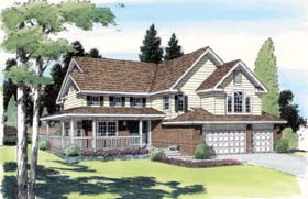 Country Farmhouse Traditional House Plan 24255 Elevation