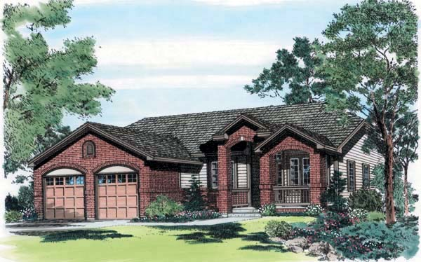 Traditional House Plan 24256 with 3 Beds, 2 Baths, 3 Car Garage Elevation
