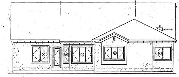 Bungalow Craftsman Traditional House Plan 24257 Rear Elevation