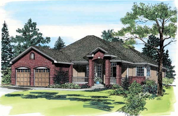 Traditional House Plan 24259 Elevation