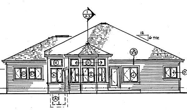 Traditional House Plan 24259 Rear Elevation