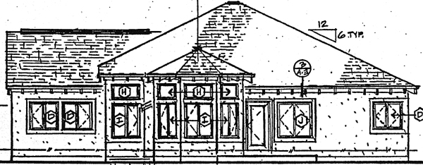Bungalow Craftsman Traditional House Plan 24260 Rear Elevation