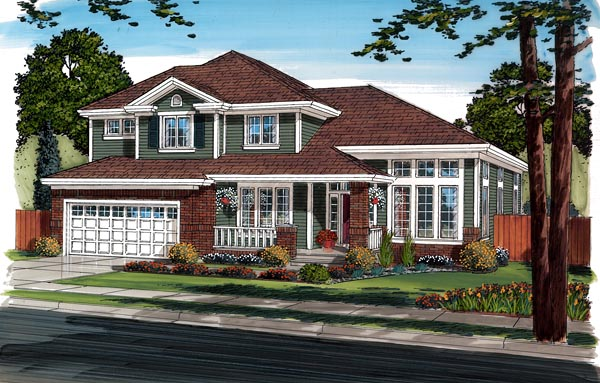 Bungalow Craftsman European House Plan 24262 Elevation