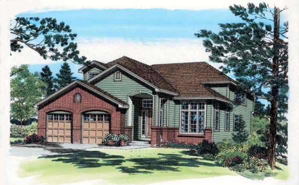 Contemporary European Traditional House Plan 24265 Elevation