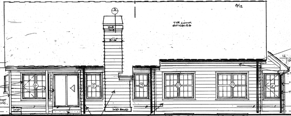 Contemporary , European , Traditional , Rear Elevation of Plan 24265