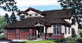 Traditional , Southwest , Craftsman , Bungalow House Plan 24266 with 4 Beds, 3 Baths, 2 Car Garage Elevation