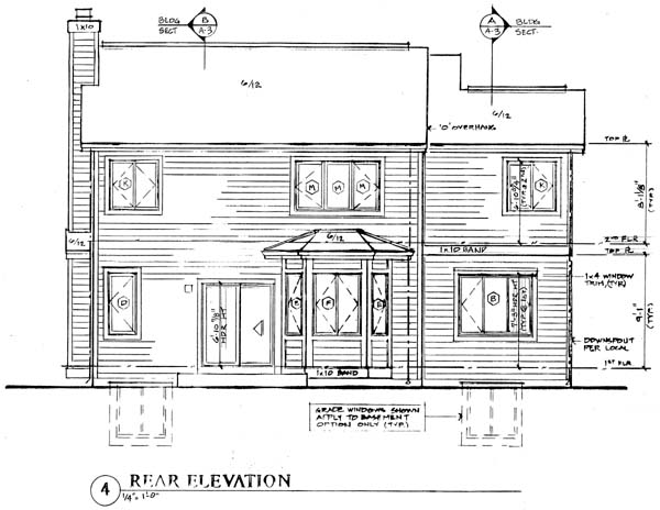 Traditional House Plan 24268 Rear Elevation
