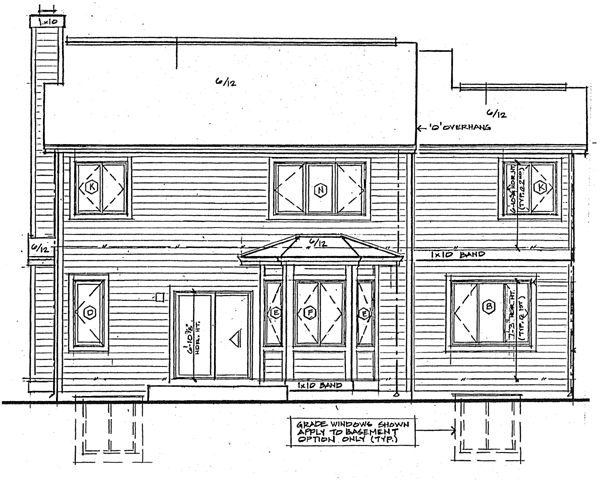 Traditional House Plan 24269 Rear Elevation